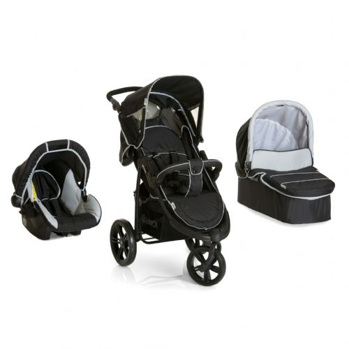 New Hauck Viper SLX Trio Set (Caviar/Grey) including carrycot, car seat and raincover